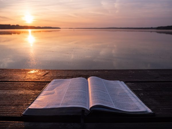 bible at sunrise